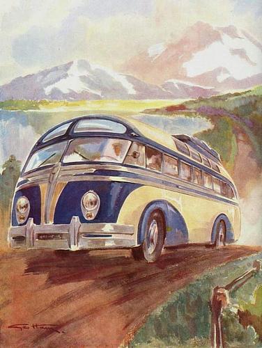 Bussen Autocar Isobloc by Geo Ham 1948