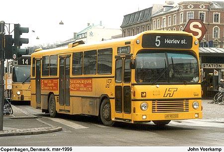 Bussen Volvo -Aabenraa Bus 1982 Denemarken