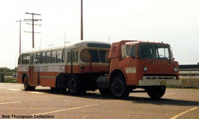Ford C model pulling a Canadian Car Brill bus  bob316