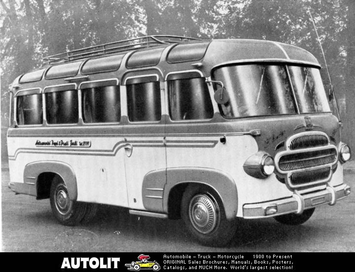02 1955 OM Leoncino Bartoletti GT Bus Factory Photo