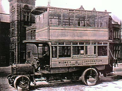 03 1909 Widnes Commer covered top double decker 1909
