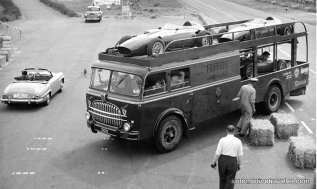 13 Fiat 682-RN2 open deck Ferrari race car transporter Carrozzeria Bartoletti 1960
