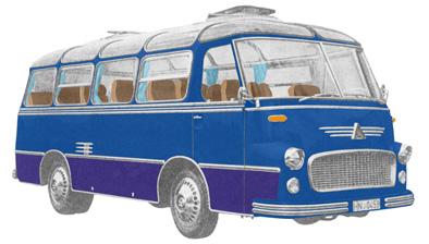 18 1957 Drauz DR 25 Klubbus Ford AD 6 V6 2 takt Diesel 4195cc