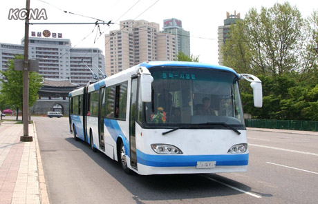 18 New-type Trolley Bus Manufactured in DPRK Pyongyang