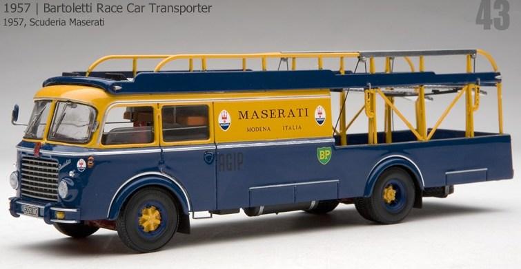 19 Fiat Bartoletti Race Car Transporter Scuderia Maserati 1957