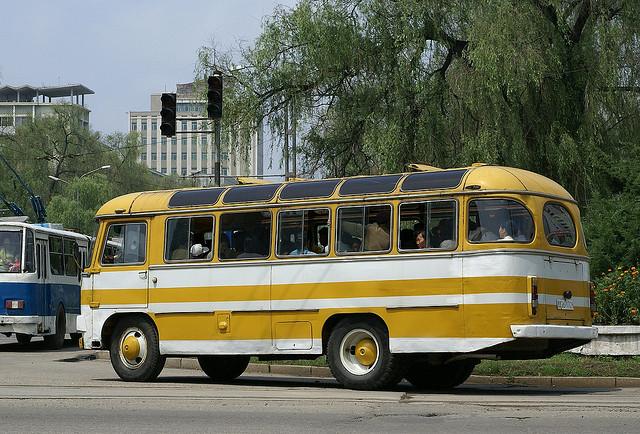 19 PAZ 672 bus in Pyongyang