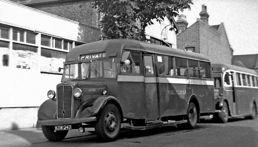 1946 Bussen Commer, formerly C5, KTW247, was new in 1946 Mulliner body