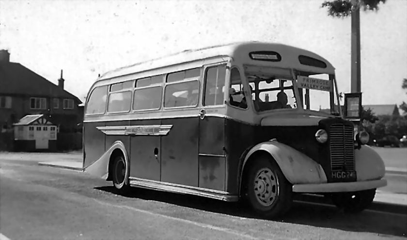 1950 Bussen Commer Q4 with a Scottish Aviation C33F body, new to Summers of Glasgow in 1950