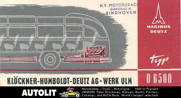 1950 Magirus Deutz Klöckner Humbold ULM wh2022