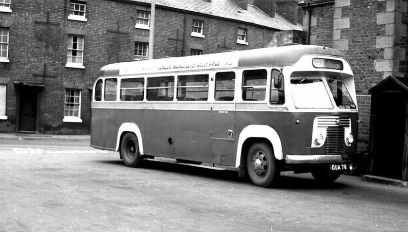 1951 Bussen Commer Avenger I with a Saro C33F body had been new in 1951