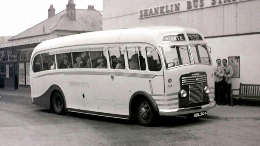 1951 Bussen Commer Avenger with Harrington C33F body new in 1951 to Nash of Ventnor