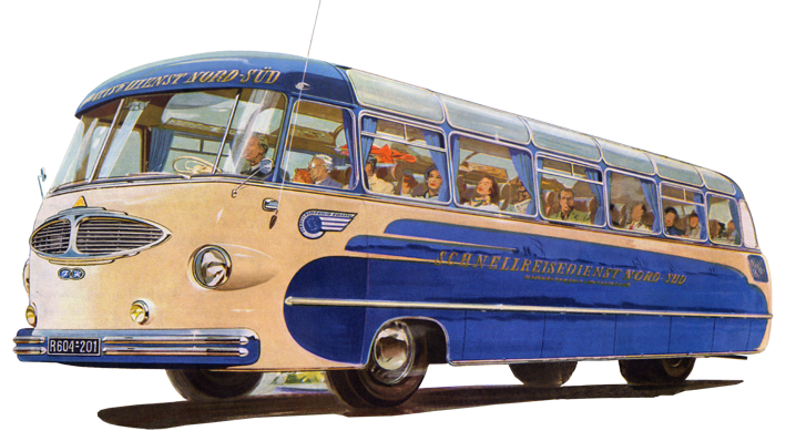 1955 Der Drauz DR 42 mit einem 6-Zylinder-Reihenmotor Ford GIYT mit 90 PS