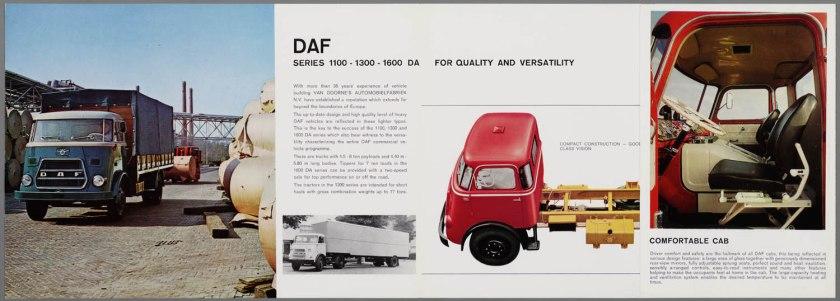 1966 DAF 1100, 1300, 1600 serie c