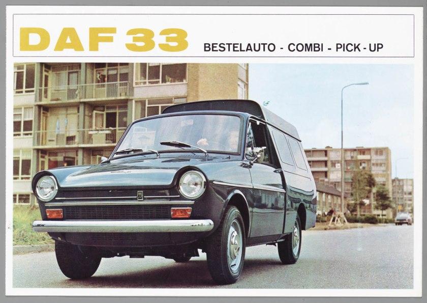 1966 DAF 33 Pick-up Bestel Combi a