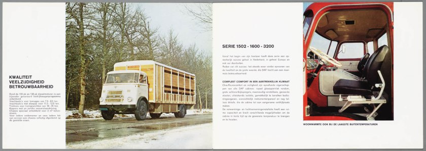 1967 DAF 1502, 1600, 3200 serie b