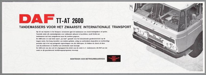 1967 DAF 2600 6x4 TT-AT b