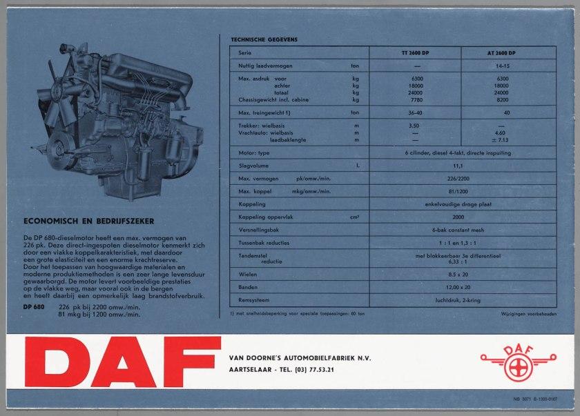 1967 DAF 2600 6x4 TT-AT e