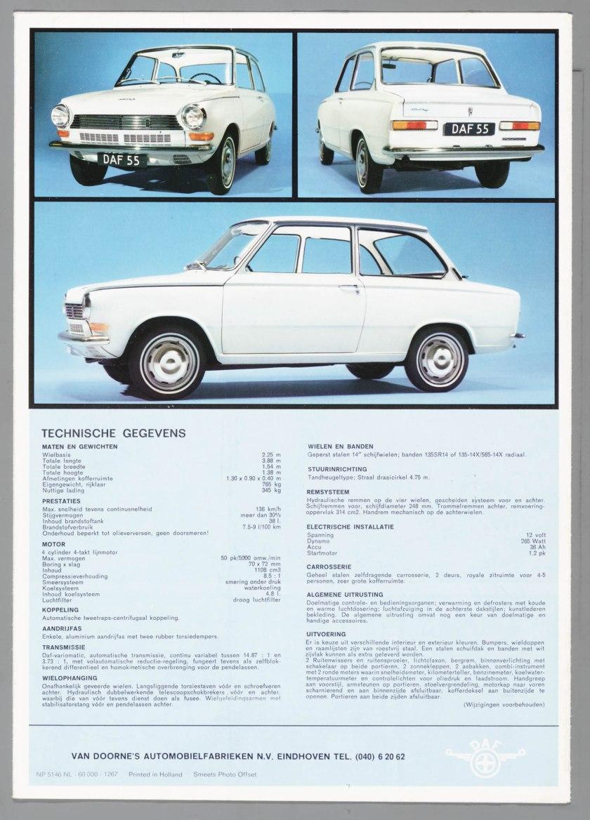 1967 DAF 55.c
