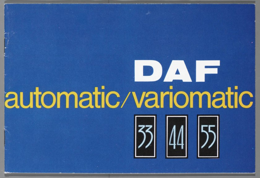 1968 DAF 33, 44, 55 Sedan, 33 Bestel, 44 Combi a
