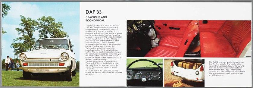 1968 DAF 33, 44, 55 Sedan, 33 Bestel, 44 Combi h