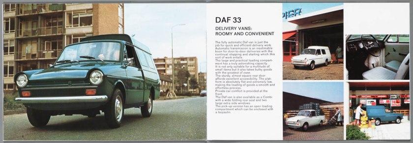 1968 DAF 33, 44, 55 Sedan, 33 Bestel, 44 Combi i