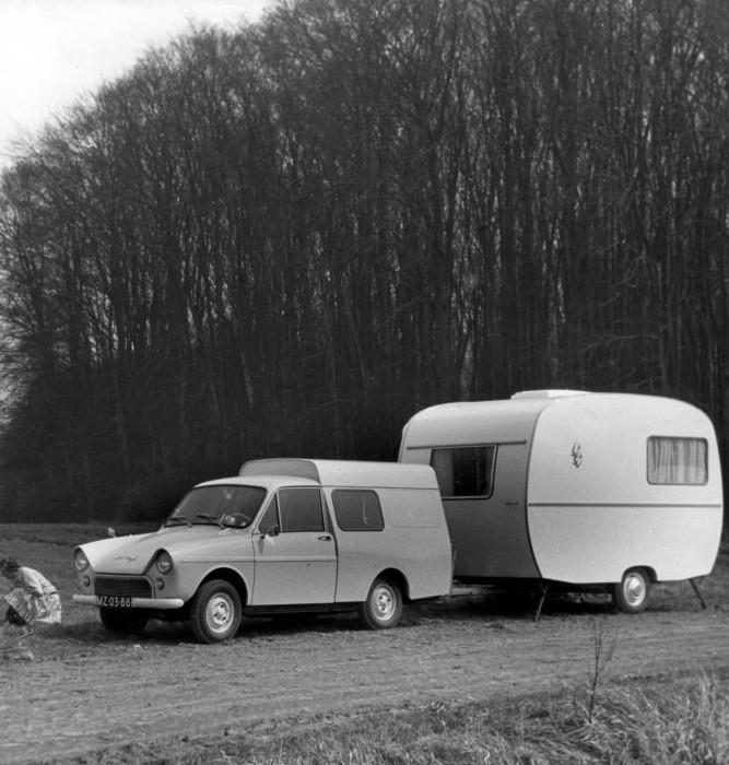 1968 DAF Combi met Caravan MZ-03-88