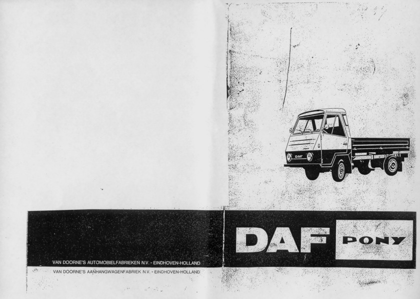 1968 DAF voorkant + achterkantdaf pony instructie boekje(1)
