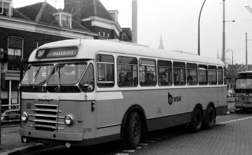 1968 DAF WSM 2780 bij Station Delft