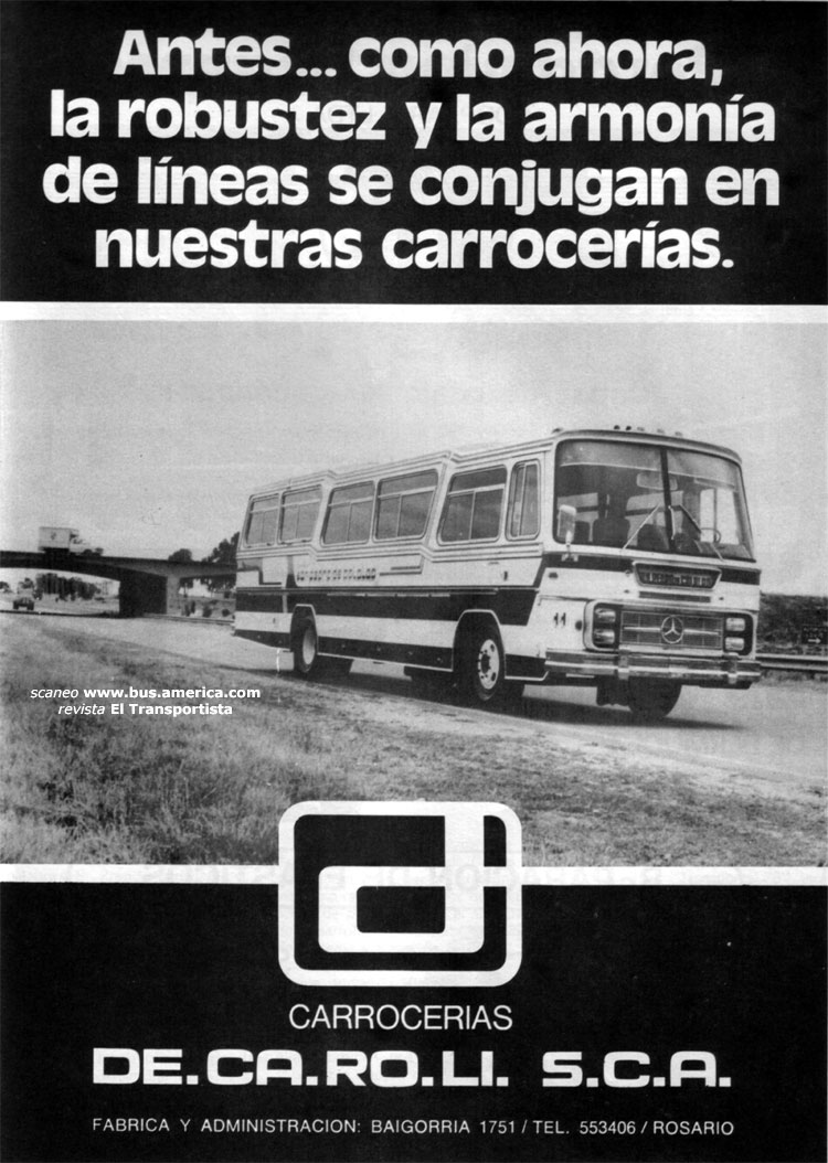 1978 Mercedes Benz LO1114-DECAROLI AD