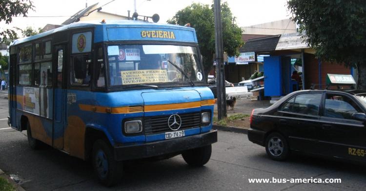 1989 Mercedes-Benz LO 708E - DE.CA.RO.LI. Pia I (en Chile) - Vía Nueve