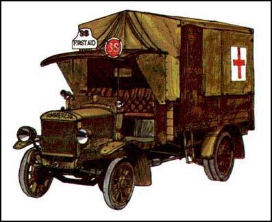 21 Commer First World War ambulance