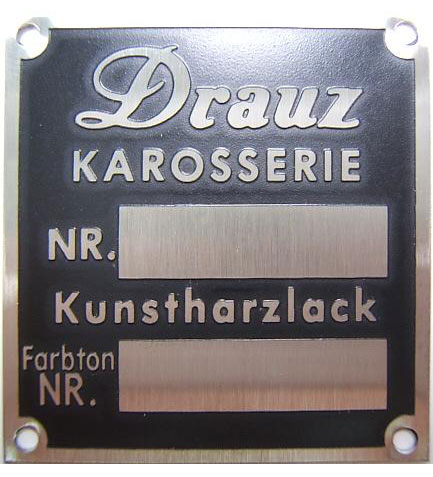 24 Drauz-conv-d and roadster plaque
