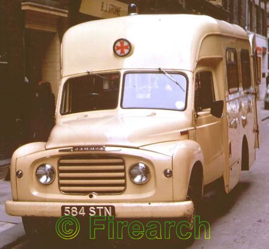 34 584STN A 1960 Commer Superpoise ambulance from Newcastle