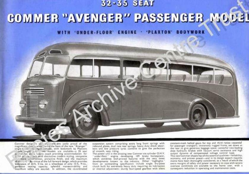 40 1948 Bussen Commer Avenger Passenger Model 32-35seat 1948