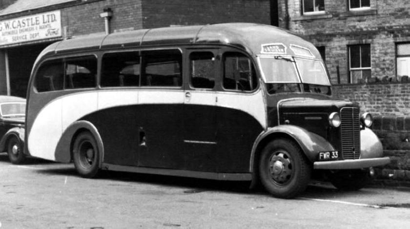 45 1962 Bussen Commer Commando Plaxton C30F seats 1946 - 1962