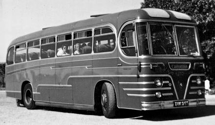 63 1957 Bussen Commer-Beadle Integral coach, TUK255, of 1957