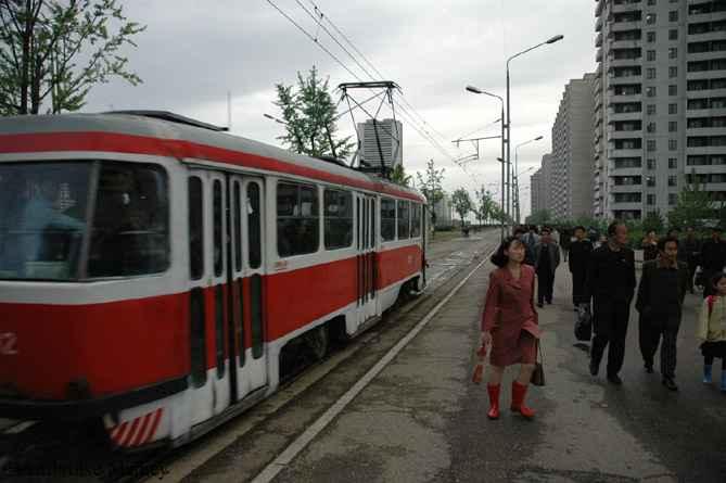 A ČKD-Tatra T4D-B4D on Line 1 Pyongyang