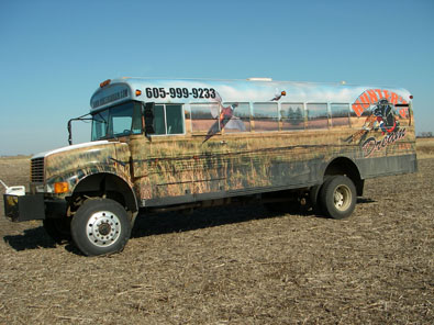 camo bus Pheasant Hunting South Dakota Pheasant Hunt,G