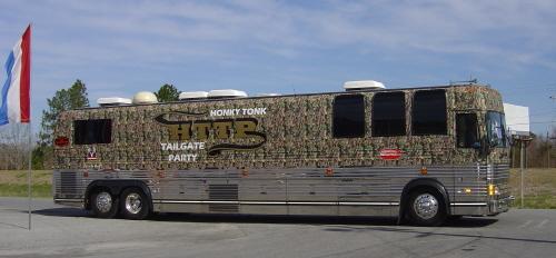 Camo Extreme Tour Bus