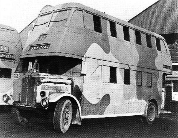 NSW Dept of Road Transport and Tramways bus in camouflage Australian Army