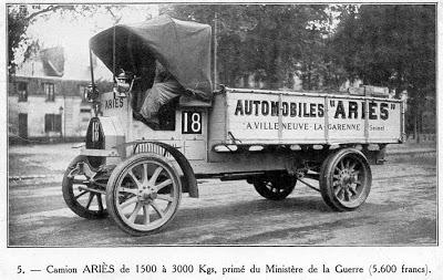 VILLENEUVE LA GARENNE CAMION AUTOMOBILE MILITAIRE ARIES