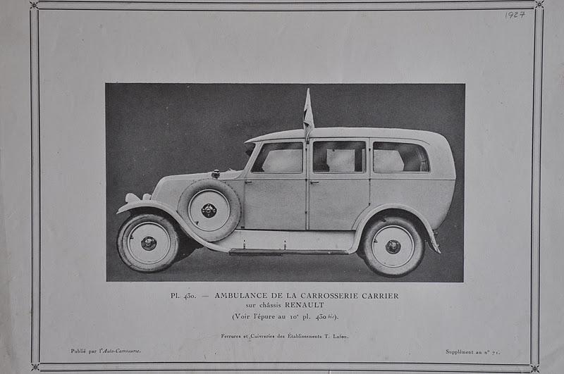 000 1927 - Ambulance de la Carrosserie Carrier sur châssis Renault