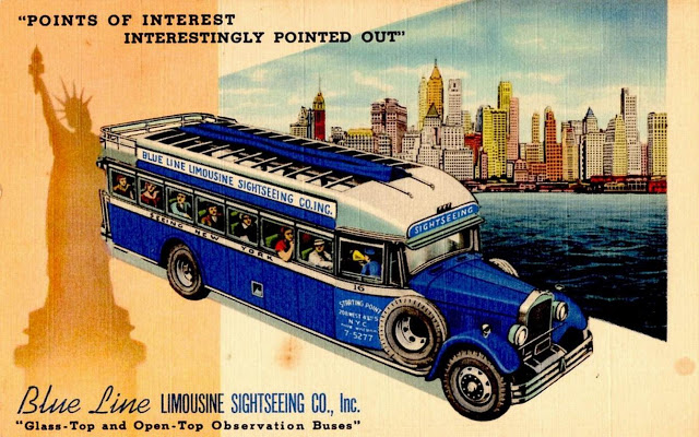 000 1941 Fageol Blue Line Limousine Sightseeing Bus, New York City