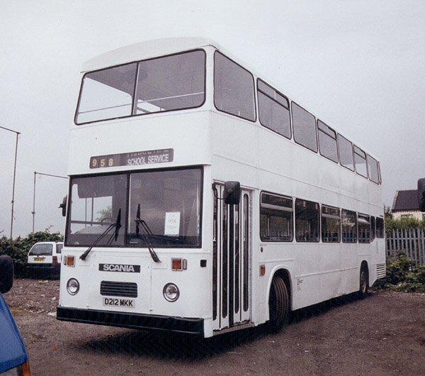 002 1987 high capacity East Lancs body on Scania K92 chassis