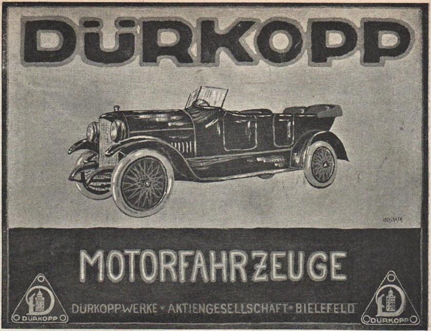 007a Publicité Dürkopp 1918