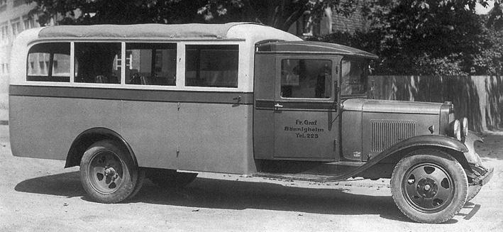 1930 Ford AA ersten omnibusse