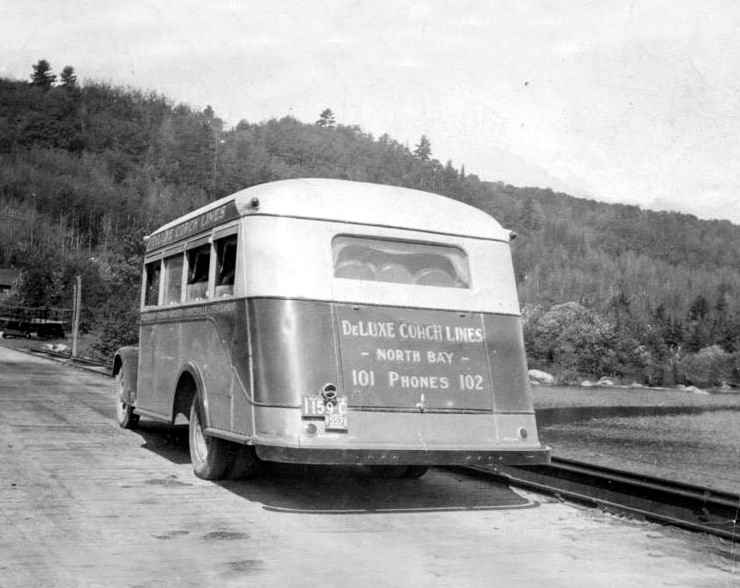 1934 Diamond T North Bay to Huntsville, Ontario Rearview
