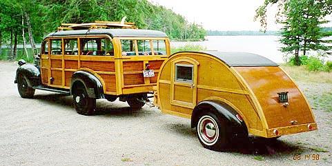 1947 DODGE BUS WAGON WITH WOODIE TEARDROP
