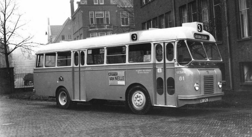 1950 DAF-Domburg autobus, GEBRU Nr. 81