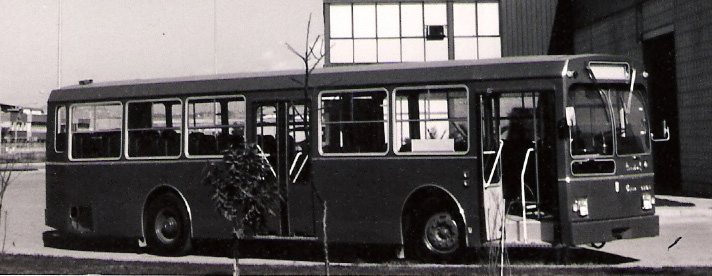 26a Pegaso 6050 leaving the Enasa factory at Zona Franca (Barcelona).